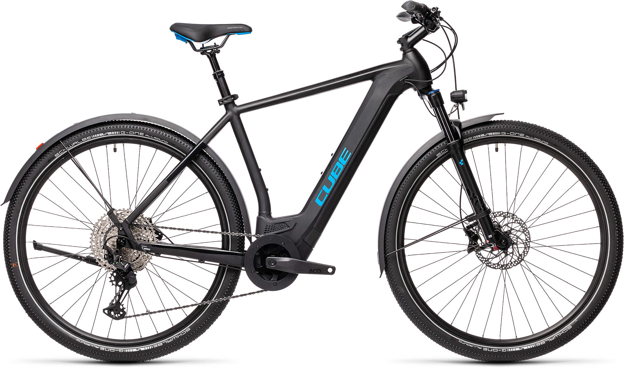 CUBE CROSS HYBRID RACE 625 ALLROAD BLACK/BLUE 2021
