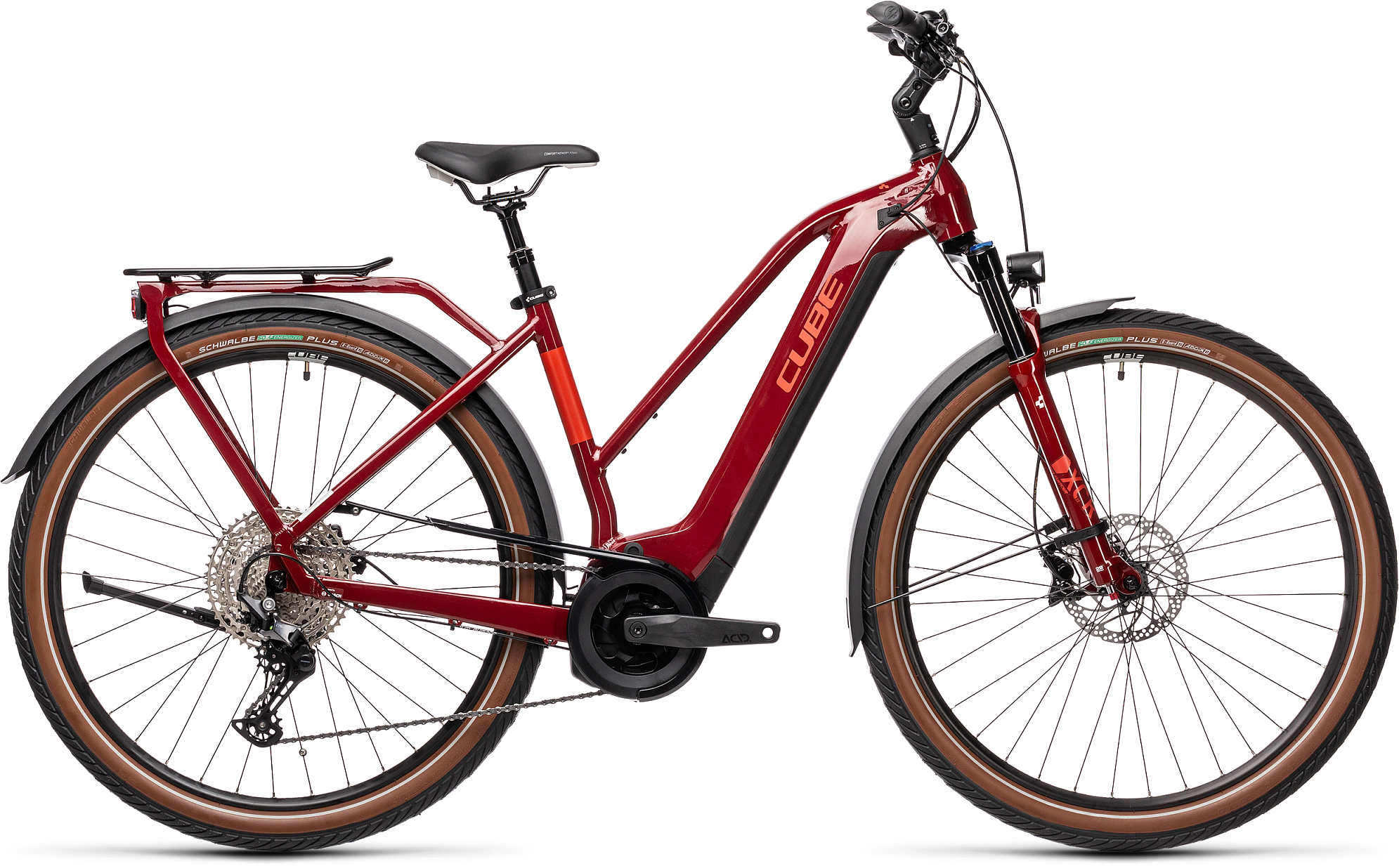 CUBE TOURING HYBRID EXC 500 RED/GREY 2021