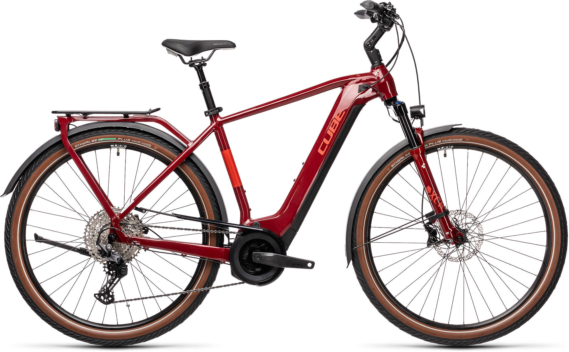 CUBE TOURING HYBRID EXC 625 RED/GREY 2021