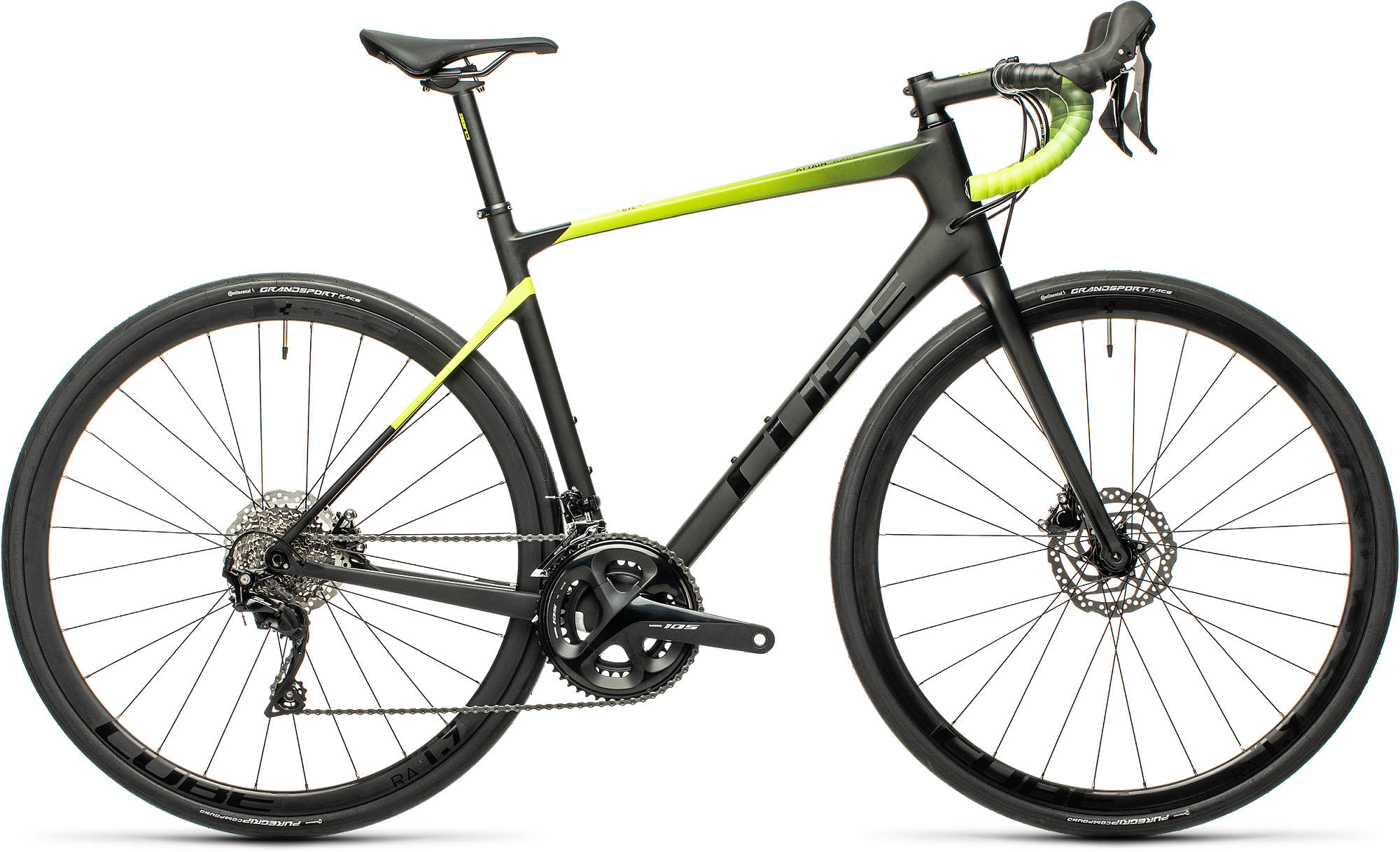 CUBE ATTAIN GTC RACE CARBON/FLASHYELLOW 2021