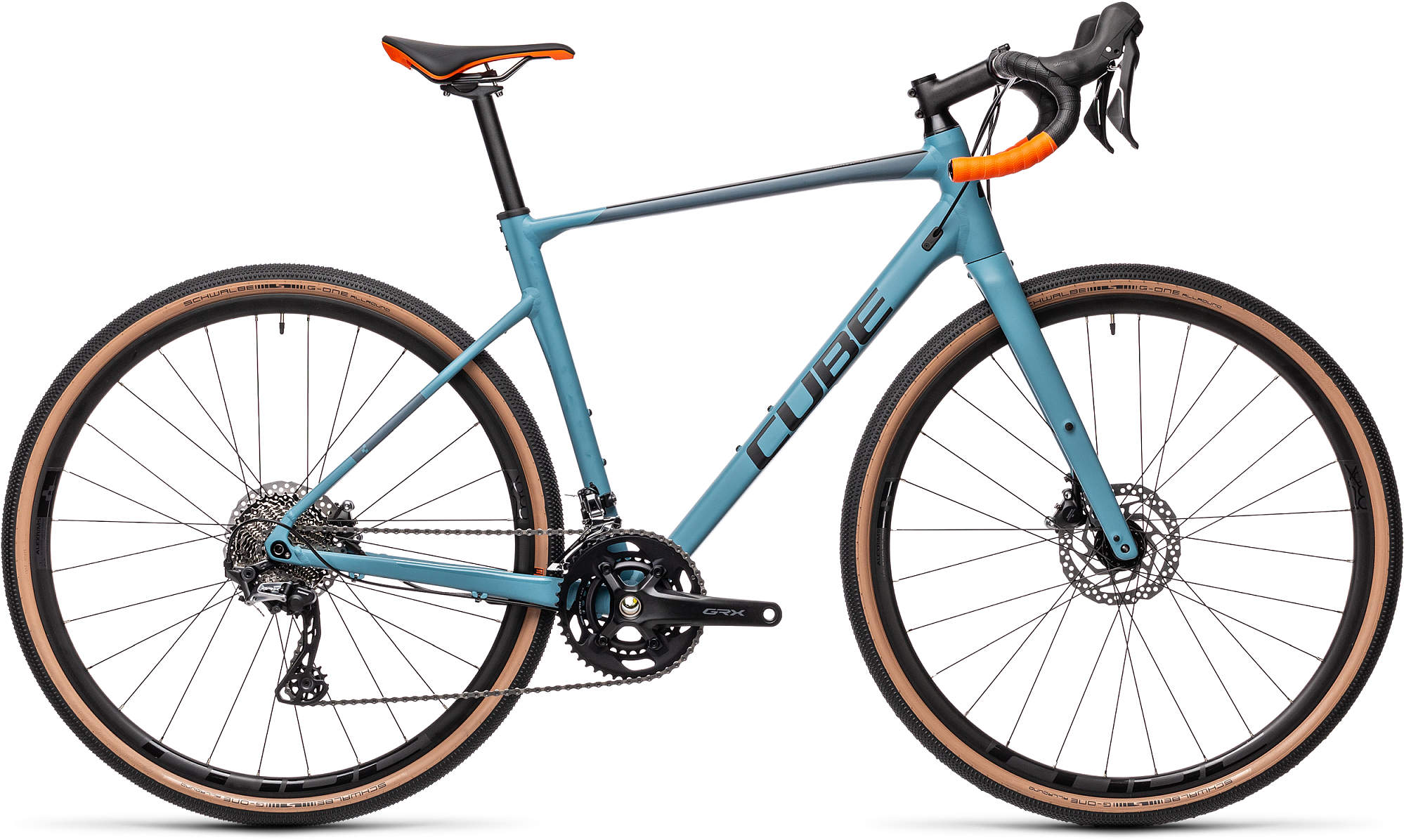 CUBE NUROAD RACE GREYBLUE/ORANGE 2021